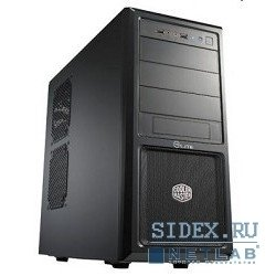 корпус miditower cooler master elite 370 [rc-370-kkp500] black/black 500w