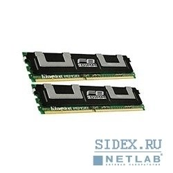 модуль памяти kingston ddr2 4gb (pc2-5300) 667mhz (kit 2x2gb) [kvr667d2d8f5k2/4g] fully buffered