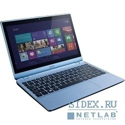 "ноутбук acer aspire v5-122p-61454g50nbb a6 1450/4gb/500gb/hd8250/11.6""/hd/touch/1366x768/win 8 single language/lt.blue/3c/wifi/cam [nx.m92er.001]"