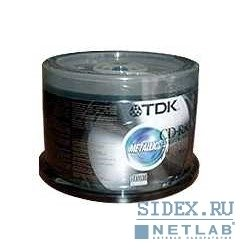 Диск CD-R TDK 700Mb 48X/52X Cake Box (100 шт) (75000000465)