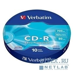 Диск CD-R Verbatim 700Mb 52x Shrink (10 шт) (43725)