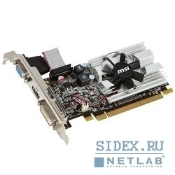 видеокарта msi r6450-md1gd3/lp v2 rtl,  1gb ddr3,  dvi,  hdmi,  d-sub