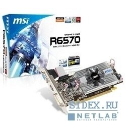 видеокарта msi r6570-md2gd3/lp rtl,  2gb ddr3 fan,  dvi-d,  hdmi,  vga pci-e