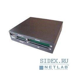 Картридер AII in 1 USB 2.0 Gembird (FDI2-ALLIN1-B) (черный)