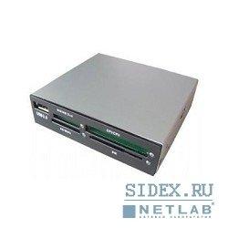 Картридер AII in 1 USB 2.0 Gembird (FDI2-ALLIN1-AB) (черный)