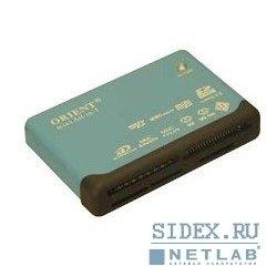 Картридер AII in 1 USB 2.0 Orient (CR-02BR) (черный)