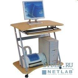 Компьютерный стол DL-E02/Beech,  Стойка для компьютера,  цвет бук,  МДФ,  полка под кл-ру,  сист. блок,  размер 80см(ш) х 79см(в)