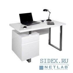 Компьютерный стол DL-HG003/White. Стол для компьютера Бюрократ DL-HG003/White белый