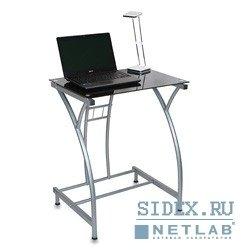 Компьютерный стол GD-002/Black. Стол для компьютера Бюрократ GD-002/Black черный