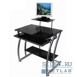 Компьютерный стол GD-010/Black. Стол для компьютера ,  черное закаленное стекло,  выдвижная полка под клавиатуру,  размер 80см (ш) x 57.5см (д) x92.2 см (в)