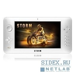 "игровая консоль soundtronix storm - cortex a9 1ghz cpu,  8gb, wifi,  512 mb ddr3,  7"",  os android"