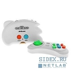 Игровые приставки SEGA Genesis Nano Trainer + 40 игр (геймпад,  AV кабель) белый