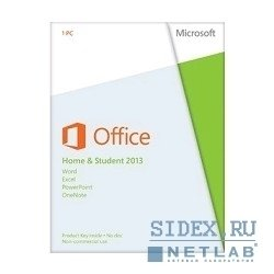 Microsoft Office Home and Student 2013 32-bit/64-bit Russian Only EM DVD No Skype (79G-03740)