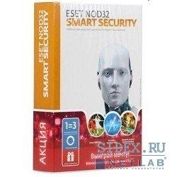 ESET NOD32 Smart Security + Bonus + расширенный функционал 3 ПК  на 1 год или продление на 20 месяцев (NOD32-ESS-1220(BOX)-1-1)