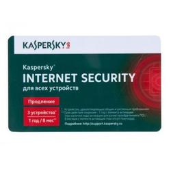 ��������� kaspersky internet security multi-device russian edition 3-device 1 year renewal card (kl1941rocfr)