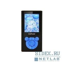 MP3 плеер Explay C46 4Гб (черный, голубой)