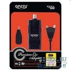 Автомобильное зарядное устройство USB + кабель mini, microUSB, Nokia (GINZZU GA-4110UB/S2)
