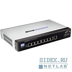 сетевое оборудование cisco sb sps208g-g5 коммутатор 8-port 10/100 + 2-port gigabit sp switch