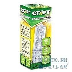 Галогенная лампа СТАРТ G9 220V 40W CL--20