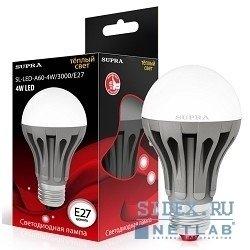 Светодиодная лампа SUPRA LED SL-LED-A60-4W/3000/E27(-N) (теплый)
