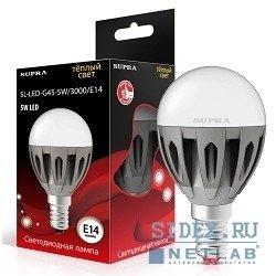 Светодиодная лампа SUPRA LED SL-LED-G45-5W/3000/E14 (теплый)