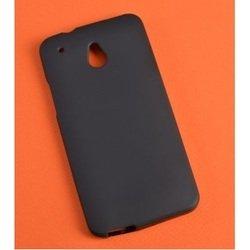 Силиконовый чехол-накладка для HTC One Mini (TPU Case R0002197) (черный матовый)
