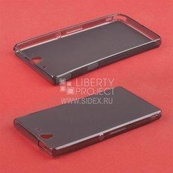 Силиконовый чехол-накладка для Sony Xperia Z (TPU Case SM001817) (черный матовый)