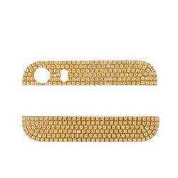 Стеклянные вставки в корпус для Apple iPhone 5S (R0003772) (золотистый)