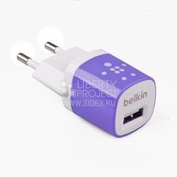 Сетевое зарядное устройство USB (Belkin R0003596) (белый/сиреневый)
