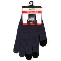 Перчатки для сенсорных экранов (3 пальца, размер L) (CD125827) (темно-серый)