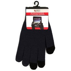 Перчатки для сенсорных экранов (3 пальца, размер L) (CD125825) (черный)