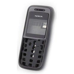 Корпус для Nokia 1200, 1208 со средней частью (CD013167) (черный)