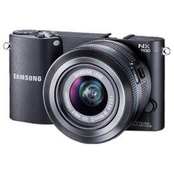 "photocamera samsung nx1100 kit white 20.3mpix 20-50�� 3"" 1080p sdhc cmos is opt vf raw hdmi �������� � ����������li-ion"