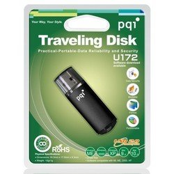 флеш диск pqi 8gb traveling disk usb 2.0 u172p black