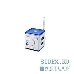 Полезные гаджеты MC-015F Портативный аудиокомплекс ORIENT, FM-радио,  цвет белый с синим,  встроенная подсветка