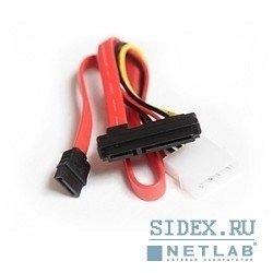 Кабель Serial ATA интерфейсный (48см) и силовой (15см) (CC-SATA-C1)