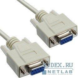 Нуль-модемный кабель RS-232 9/25pin F - 9/25pin F 3.0м Gembird [CC-134-10]