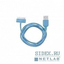 Кабель Apple 30-pin - USB, 1м (CBR CB 273) (синий)