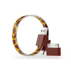 Кабель USB-microUSB+30 pin для Apple iPhone 3GS/4/4S, iPad/2/3 new, iPod Nano 6/touch 4 (GGMM Loop Giraffe) (DZ00424)