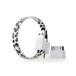 Кабель USB-microUSB+30 pin для Apple iPhone 3GS/4/4S, iPad/2/3 new, iPod Nano 6/touch 4 (GGMM Loop Snow leopard) (DZ00426)