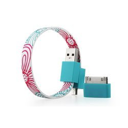Кабель USB-microUSB+30 pin для Apple iPhone 3GS/4/4S, iPad/2/3 new, iPod Nano 6/touch 4 (GGMM Loop Daisy Flowers) (DZ00431)