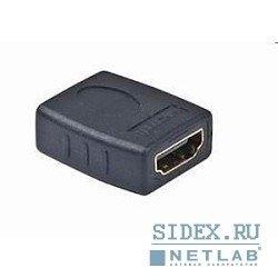 Переходник HDMI-HDMI, золотые разъемы (Gembird A-HDMI-FF)