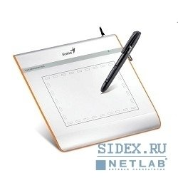 """Графический планшет Genius G-Pen/EasyPen i405X,  4""""x5, 5"""",  бепроводное перо,  Silver"""