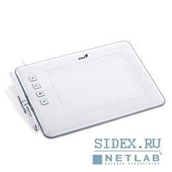"Графический планшет Genius G-Pen/EasyPen M406XE,  4""x6"",  беспроводное перо,  не требующее батареек,  Corel Painter Essentials 4,  White"