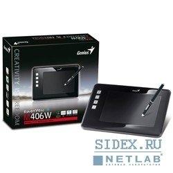 """Графический планшет Genius EasyPen M406W,  4""""x6"""",  беспроводное перо,  не требующее батареек,  Black"""