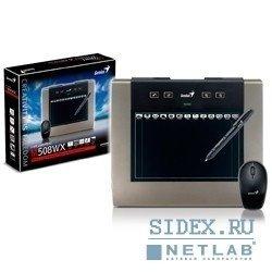 """Графический планшет Genius MousePen M508WX,  5""""x8"""",  беспроводная мышь и перо,  Black&Metallic"""