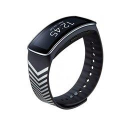 Ремешок для Samsung Gear Fit (ET-SR350RBEGRU) (черный/серебристый)