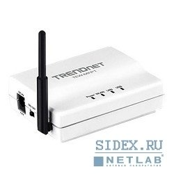 беспроводное оборудование trendnet tew-mfp1 wireless 1-port multi-function print server (1 usb)