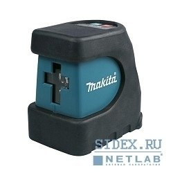 Лазерные дальномеры,  детекторы Makita SK102Z Уровень лазер, 3х1.5В-LR6(AA), 15м, точн-0.3ммм, 0.5кг, чем, магнитное крепление к стене