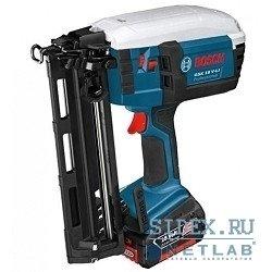 Гвоздезабиватели,  Скобозабиватели,  Степлеры Bosch GSK 18 V-LI Гвоздезабиватель (18 В, гвозди 32-63х1, 6мм,  обойма 100шт,  3, 5 кг,  2 Li-ion.акк.4, 0Ач) [601480304]